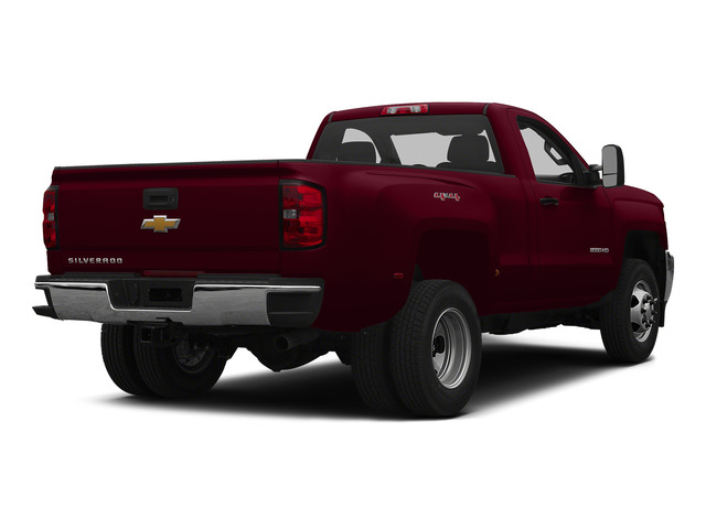 Deep Ruby Metallic 2015 Chevrolet Silverado 3500HD Pictures Silverado 3500HD Regular Cab LT 4WD photos rear view