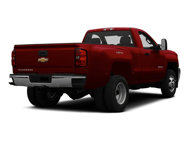 Victory Red 2015 Chevrolet Silverado 3500HD Pictures Silverado 3500HD Regular Cab LT 4WD photos rear view
