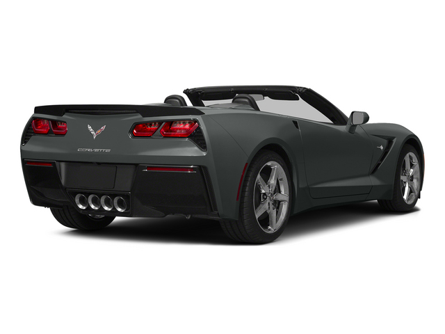 Shark Gray Metallic 2015 Chevrolet Corvette Pictures Corvette Convertible 2D Z51 3LT V8 photos rear view