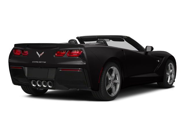 Black 2015 Chevrolet Corvette Pictures Corvette Convertible 2D Z51 3LT V8 photos rear view