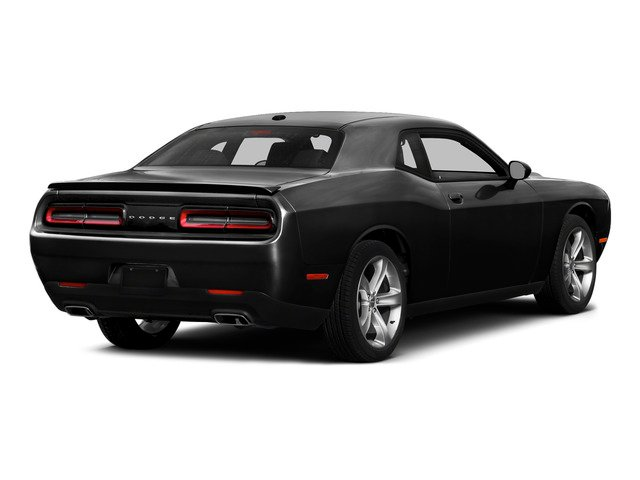Pitch Black Clearcoat 2015 Dodge Challenger Pictures Challenger Coupe 2D R/T Plus V8 photos rear view