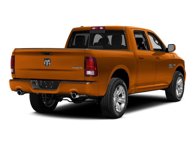 Omaha Orange 2015 Ram Truck 1500 Pictures 1500 Crew Cab Express 4WD photos rear view