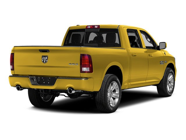 Yellow 2015 Ram Truck 1500 Pictures 1500 Crew Cab SSV 4WD photos rear view