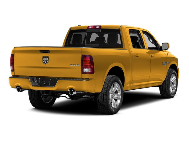 Construction Yellow 2015 Ram Truck 1500 Pictures 1500 Crew Cab SLT 4WD photos rear view