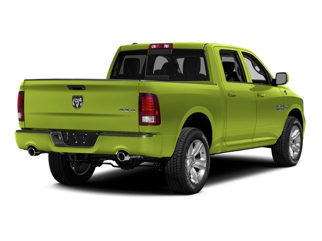 National Safety Yellow 2015 Ram Truck 1500 Pictures 1500 Crew Cab SSV 4WD photos rear view