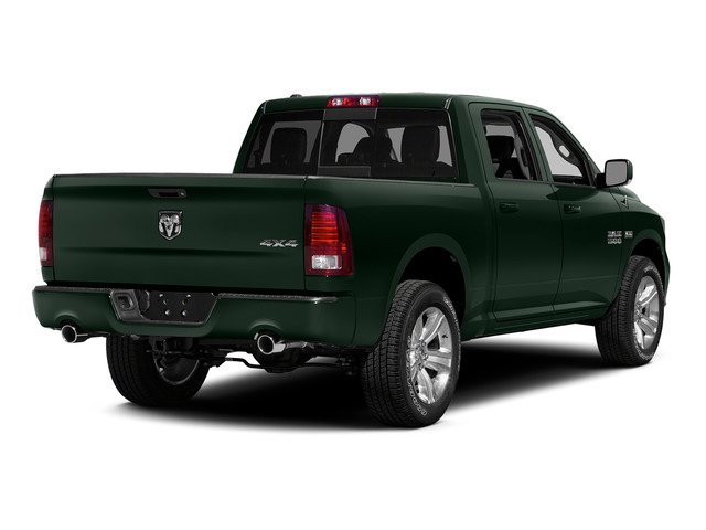 Black Forest Green Pearlcoat 2015 Ram Truck 1500 Pictures 1500 Crew Cab Laramie 2WD photos rear view