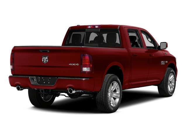 Deep Cherry Red Crystal Pearlcoat 2015 Ram Truck 1500 Pictures 1500 Crew Cab SLT 4WD photos rear view