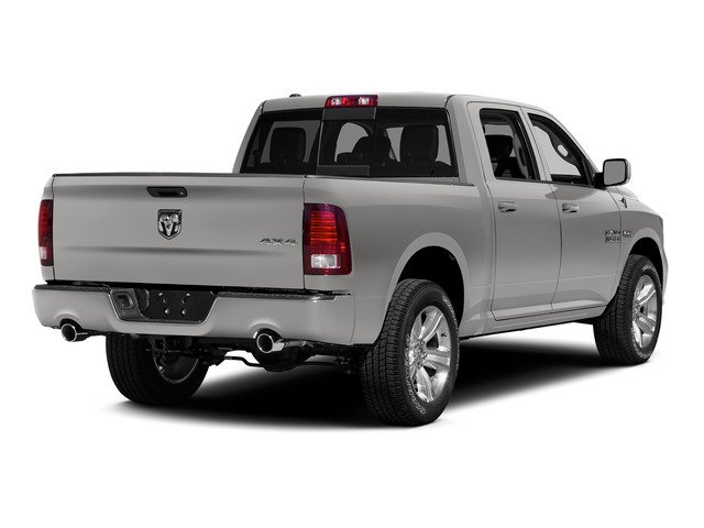 Bright Silver Metallic Clearcoat 2015 Ram Truck 1500 Pictures 1500 Crew Cab SLT 4WD photos rear view