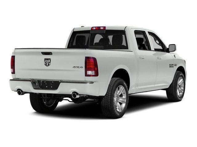 Bright White Clearcoat 2015 Ram Truck 1500 Pictures 1500 Crew Cab Longhorn 4WD photos rear view