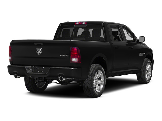 Black Clearcoat 2015 Ram Truck 1500 Pictures 1500 Crew Cab SLT 4WD photos rear view