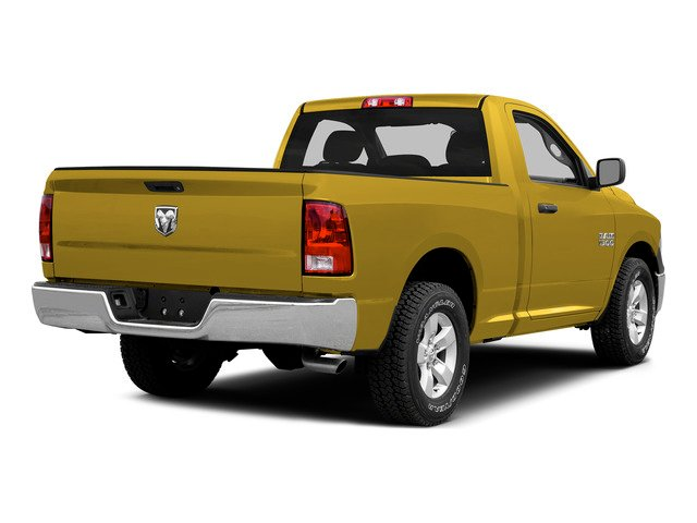 Yellow 2015 Ram Truck 1500 Pictures 1500 Regular Cab SLT 4WD photos rear view