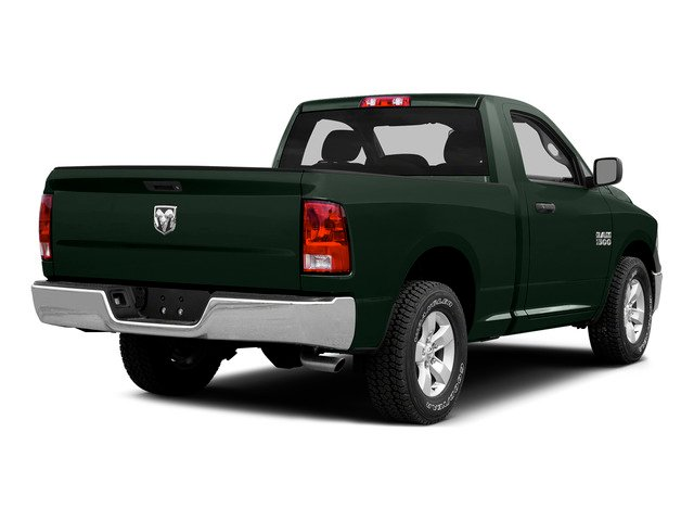 Black Forest Green Pearlcoat 2015 Ram Truck 1500 Pictures 1500 Regular Cab SLT 2WD photos rear view