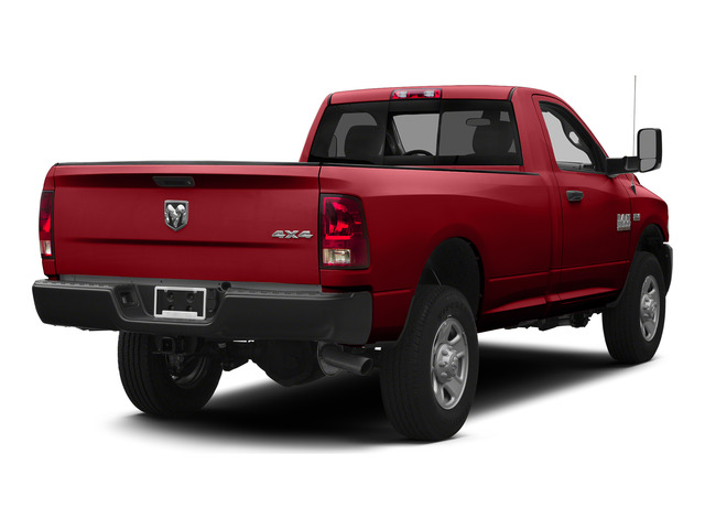 Bright Red 2015 Ram Truck 3500 Pictures 3500 Regular Cab Tradesman 2WD photos rear view