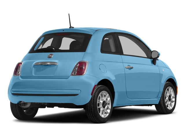 Luce Blu (Light Blue) 2015 FIAT 500 Pictures 500 Hatchback 3D Sport I4 photos rear view