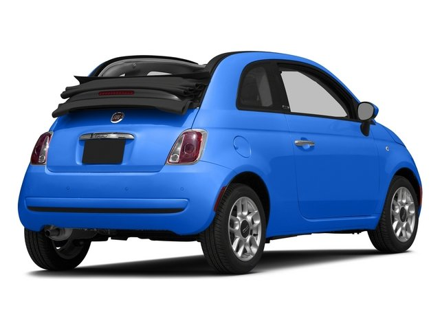 Laser Blu (Bright Met. Blue) 2015 FIAT 500c Pictures 500c Convertible 2D Lounge I4 photos rear view