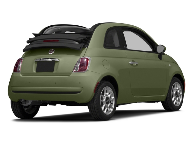 Verde Oliva (Olive Green) 2015 FIAT 500c Pictures 500c Convertible 2D Lounge I4 photos rear view