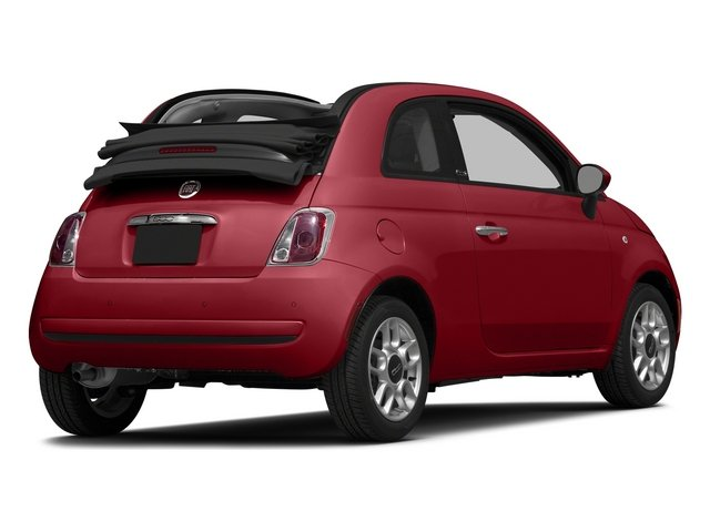 Rosso (Red) 2015 FIAT 500c Pictures 500c Convertible 2D Lounge I4 photos rear view