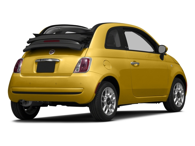 Giallo Moderna Perla (Pearl Yellow TC) 2015 FIAT 500c Pictures 500c Convertible 2D Lounge I4 photos rear view