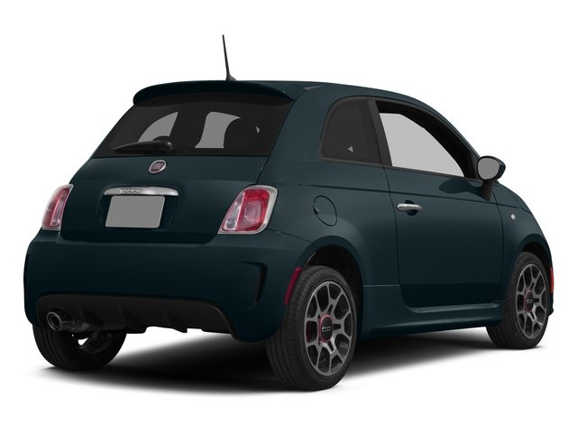 Verde Azzurro (Blue-Green) 2015 FIAT 500 Pictures 500 Hatchback 3D I4 Turbo photos rear view