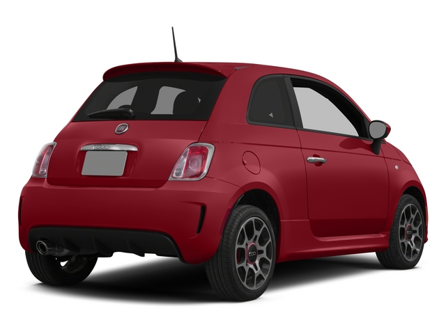Rosso (Red) 2015 FIAT 500 Pictures 500 Hatchback 3D I4 Turbo photos rear view