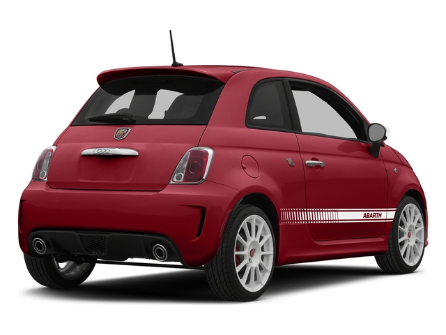 Rosso (Red) 2015 FIAT 500 Pictures 500 Hatchback 3D Abarth I4 photos rear view