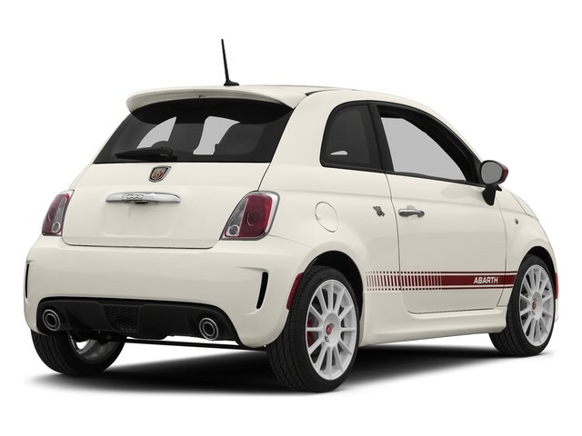 Bianco (White) 2015 FIAT 500 Pictures 500 Hatchback 3D Abarth I4 photos rear view