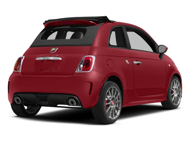 Rosso (Red) 2015 FIAT 500c Pictures 500c Convertible 2D Abarth I4 photos rear view