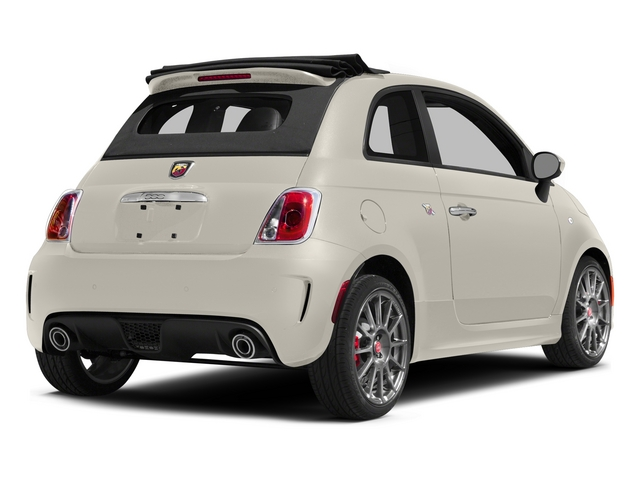 Bianco (White) 2015 FIAT 500c Pictures 500c Convertible 2D Abarth I4 photos rear view