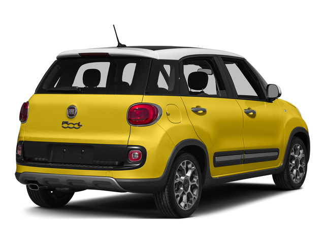 Giallo (Yellow) 2015 FIAT 500L Pictures 500L Hatchback 5D L Trekking I4 Turbo photos rear view