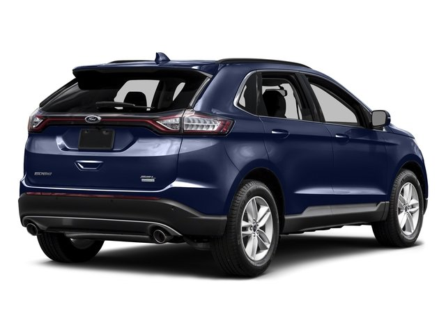 Deep Impact Blue Metallic 2015 Ford Edge Pictures Edge Utility 4D Titanium 2WD V6 photos rear view