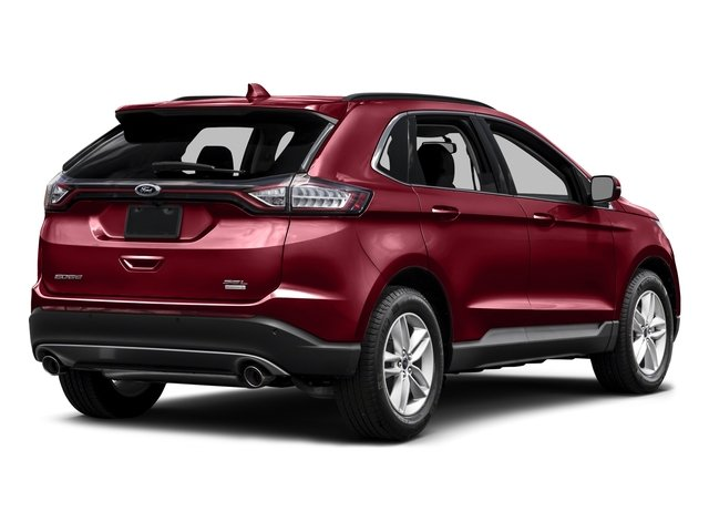 Ruby Red Metallic Tinted Clearcoat 2015 Ford Edge Pictures Edge Utility 4D Titanium 2WD V6 photos rear view