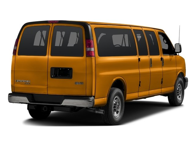 Wheatland Yellow 2015 GMC Savana Passenger Pictures Savana Passenger Savana LT 135 photos rear view