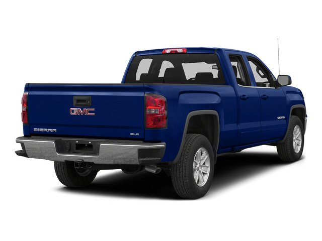 Stone Blue Metallic 2015 GMC Sierra 1500 Pictures Sierra 1500 Extended Cab SLT 4WD photos rear view