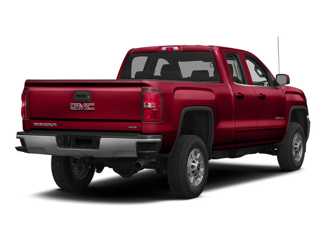 Fire Red 2015 GMC Sierra 2500HD Pictures Sierra 2500HD Extended Cab SLT 4WD photos rear view