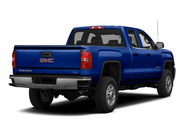Cobalt Blue Metallic 2015 GMC Sierra 2500HD Pictures Sierra 2500HD Extended Cab SLT 4WD photos rear view