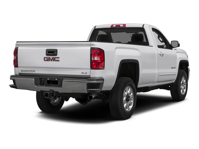 Summit White 2015 GMC Sierra 2500HD Pictures Sierra 2500HD Regular Cab SLE 4WD photos rear view