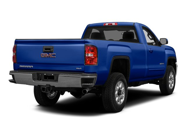 Cobalt Blue Metallic 2015 GMC Sierra 2500HD Pictures Sierra 2500HD Regular Cab SLE 4WD photos rear view