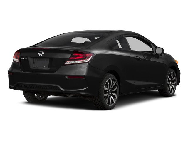 Crystal Black Pearl 2015 Honda Civic Coupe Pictures Civic Coupe 2D EX-L I4 photos rear view