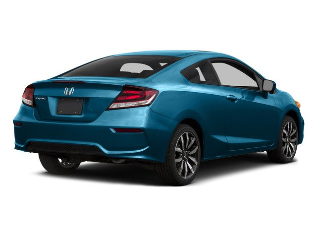 Dyno Blue Pearl 2015 Honda Civic Coupe Pictures Civic Coupe 2D EX-L I4 photos rear view