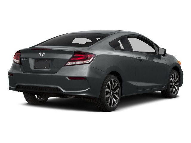 Modern Steel Metallic 2015 Honda Civic Coupe Pictures Civic Coupe 2D EX-L I4 photos rear view