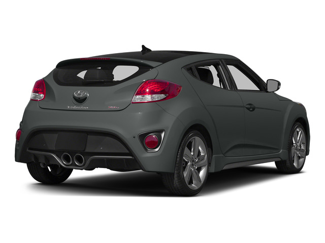 Matte Gray Metallic 2015 Hyundai Veloster Pictures Veloster Coupe 3D I4 Turbo photos rear view