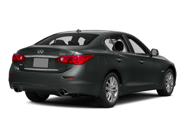 Graphite Shadow 2015 INFINITI Q50 Pictures Q50 Sedan 4D Premium V6 Hybrid photos rear view