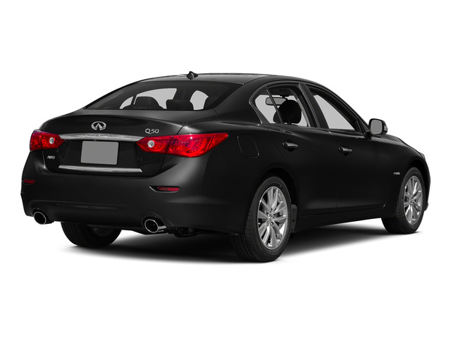 Black Obsidian 2015 INFINITI Q50 Pictures Q50 Sedan 4D Premium V6 Hybrid photos rear view