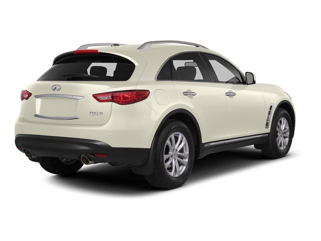 Moonlight White 2015 INFINITI QX70 Pictures QX70 Utility 4D AWD V6 photos rear view