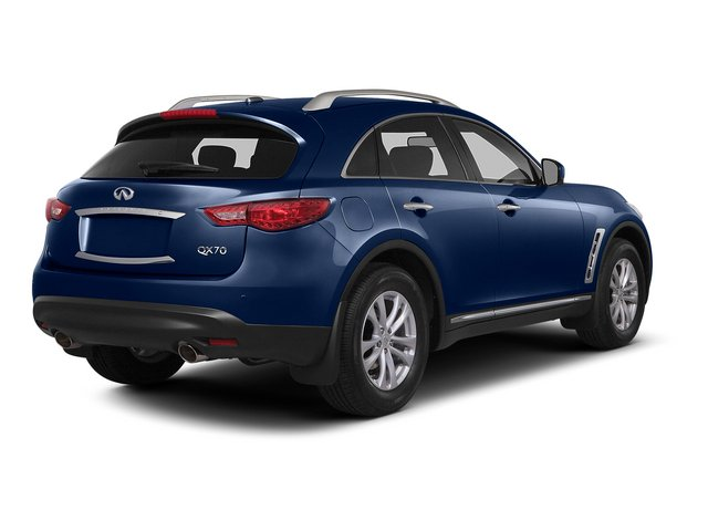 Iridium Blue 2015 INFINITI QX70 Pictures QX70 Utility 4D 2WD V6 photos rear view