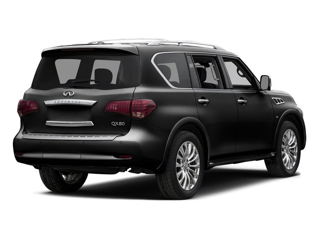 Black Obsidian 2015 INFINITI QX80 Pictures QX80 Utility 4D 2WD V8 photos rear view