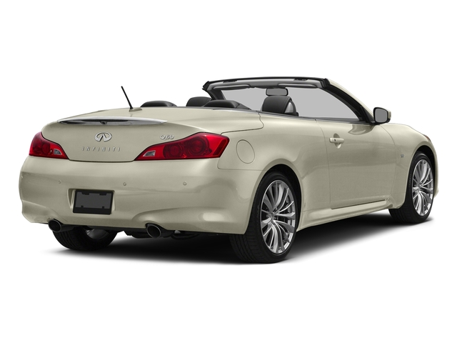 Majestic White 2015 INFINITI Q60 Convertible Pictures Q60 Convertible Convertible 2D Sport V6 photos rear view