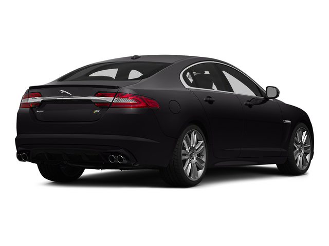 Ultimate Black Metallic 2015 Jaguar XF Pictures XF Sedan 4D XFR V8 Supercharged Speed photos rear view