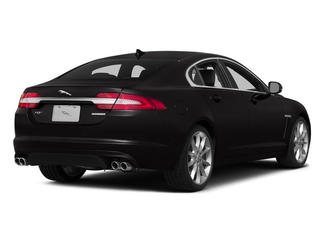 Ultimate Black Metallic 2015 Jaguar XF Pictures XF Sed 4D Portfolio AWD V6 Supercharged photos rear view