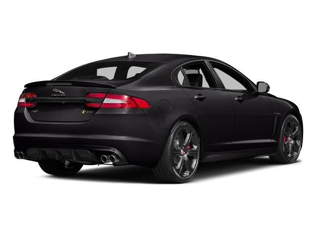 Ultimate Black Metallic 2015 Jaguar XF Pictures XF Sedan 4D XFR-S V8 Supercharged photos rear view